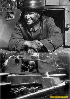 Toldi tornyában . Ww2 Uniforms, Defence Force, Ww2 Tanks, World War Ii, Wwii, Military, Historia, Military Photos, Hungary