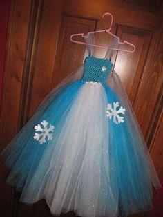 Disney princess Elsa inspired tutu DRESS Frozen costume dress-up size 4T