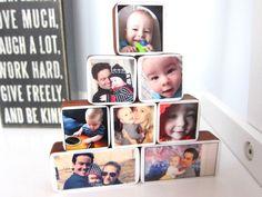 Custom photo blocks for babies - cute gift!
