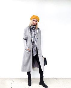 Get this look: http://lb.nu/look/8412423  More looks by Jessica Luxe: http://lb.nu/jessicaluxe  Items in this look:  Beret, Jane Carr Scarf, J Js Lee Jacket, Black Jeans, Stuart Weitzman Boots   #chic #elegant #street #summer #spring #jjslee #vancouver #blonde #fallfashion