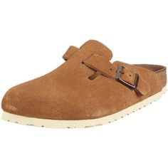 Birkenstock Clogs ''Boston'' from Leather in brown with a regular insole Birkenstock. $87.13