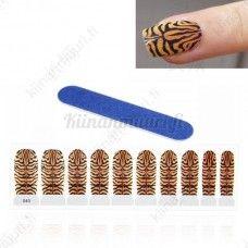 Tiikeri kynsitarrat +kynsiviila, 10 kpl