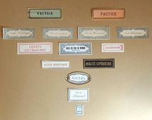 Veel etiketten apotheker diverse vintage