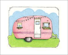 Ill Travel Route 66 In A Fine Vintage Trailer With Pink Stovetop