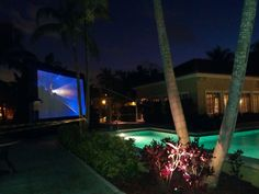 Movie Night by the Pool !