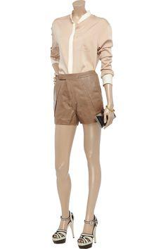 ZERO+MARIACORNEJO  Uma leather shorts