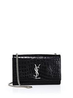 f689c9d4a492 Saint Laurent Saint Laurent Monogram Medium Crocodile-Embossed Leather  Chain Bag AED 9046.46 Ysl Bag