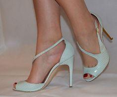 cfff11522e6 Rupert Sanderson Green Python Jewel sandals UK5 EU38 Jeweled Sandals