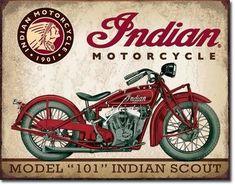 "x Metal ""Indian"" Motorcycle Model 101 Indian Scout Sign.Vintage look. Indian Scout, Motos Vintage, Vintage Indian Motorcycles, Vintage Bicycles, Images Vintage, Vintage Cars, Retro Vintage, Vintage Style, Fashion Vintage"