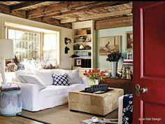 Country Style living room featured House and Garden decor magazine from UK