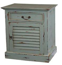 Coastal Style Shutter Bedside Cabinet