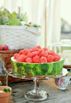 Free container and garnish. Culinary Arts, Watermelon