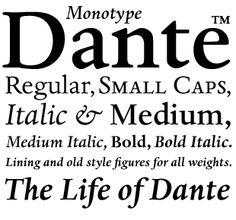 Monotype Dante | Font | Pinterest