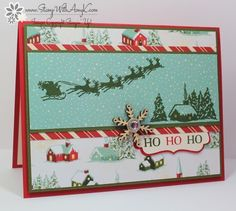 Cozy Christmas Ho Ho Ho Card by amyk3868 - Cards and Paper Crafts at Splitcoaststampers