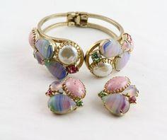 Juliana Clamper Bracelet & Earrings by MJGTreasures on Etsy