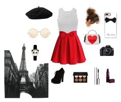 Paris by bia-jones on Polyvore featuring polyvore fashion style Miss Selfridge Chicwish New Look Kate Spade Casetify Goorin Victoria Beckham Lipstick Queen By Terry Anastasia Beverly Hills Eos clothing