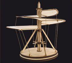 Model of Leonardo da Vinci's Aerial Screw, his idea of a helicopter