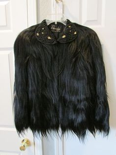 Vintage Gold Coast Black Monkey Fur Coat
