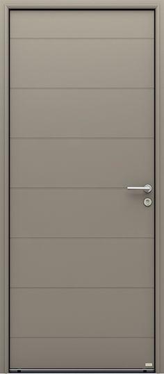 Porte bois, Porte entree, Belu0027m, Classique, Poignee plaque gris deco