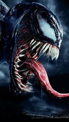 "You are watching the movie Venom on Putlocker HD. When Eddie Brock acquires the powers of a symbiote, he will have to release his alter-ego ""Venom"" to save his life. Marvel Dc, Marvel Venom, Venom Spiderman, Deadpool Wolverine, Thor Superhero, Marvel News, Venom Film, Venom Movie, Venom Tattoo"