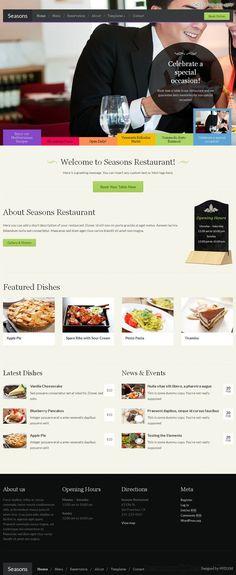 Seasons, a WordPress restaurant theme by WPZOOM