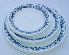 Corelle Corning Old Town Blue Onion Dinner Salad Bread Plates Set of 12 #CorelleCorning