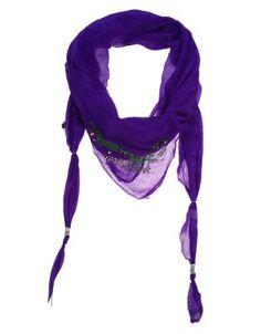 Relish Lace Combo Scarf Purple