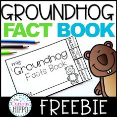 Groundhog Day Fact Book Freebie Free printable for Groundhog DayYou can find Teacher resources and more on our website.Groundhog Day Fact Book Freebie Free printable for Groundhog Day Kindergarten Groundhog Day, Groundhog Day Activities, First Grade Activities, First Grade Math, Literacy Activities, Kindergarten Activities, Grade 1, Second Grade, Montessori Education
