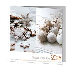 Cartes de Voeux 2016 - ref 20661 www.voeuxselection.fr  Faire Part Selection  Pour professionnel, entreprise, particulier.  PROMOTION -10% jusqu'au 31/10/15