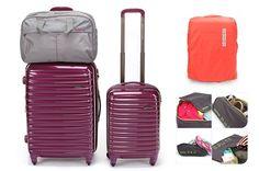 *American Tourister* SPOT LITE 8piece travel bag set extended 360 degree spinner #SamsoniteAmericanTourister