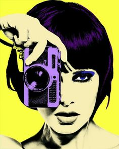 Fashion Woman with Photo Camera vintage. Light up your room and brighten your wall with this pop art. Bd Pop Art, Pop Art Girl, Andy Warhol, Poster Shop, Tableau Pop Art, Pin Up, Girls With Cameras, Camera Art, Retro Art