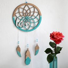 Perfect boho wall decor for bedroom or living room. Wooden Gifts, Wooden Art, Wood Crafts, Diy And Crafts, Arts And Crafts, Laser Cutter Projects, Tribal Decor, Diy Wall Art, Metal Wall Decor