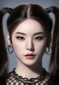 A portrait of Hwang ye Ji, the member of K-pop Idol group 'ITZY'. Mac Makeup Looks, Eye Makeup, Kpop Girl Groups, Kpop Girls, Korean Girl, Asian Girl, Fandom Kpop, Chica Cool, Cute Young Girl