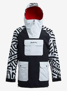 Men's Keith Haring x Burton Anorak Jacket shown in True Black / Iron / Haring
