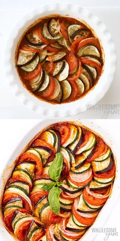 The Best Easy Baked Ratatouille Recipe - Learn how to make ratatouille - the best ratatouille recipe is EASY! This healthy baked ratatouille dish is packed with veggies (just 10 ingredients! dinner recipes The Best Easy Baked Ratatouille Recipe Fancy Dinner Recipes, Lunch Recipes, Healthy Dinner Recipes, Breakfast Recipes, Vegetarian Recipes, Cooking Recipes, Simple Recipes, Baked Ratatouille Recipe, Healthy Cooking Recipes