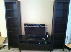 ikea hemnes entertainment center assembled in alexandria va by Furniture assembly experts LLC