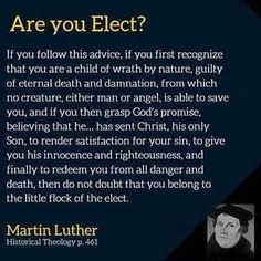 Are you elect?