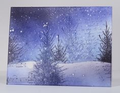 Snowstorm collage by Heather Telford - Another winner! This page on Heather's blog includes a link to her collage tutorial... Check it out!