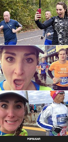 This Girl Ran the NYC Marathon and Took Selfies With 20 Guys Along the Way.