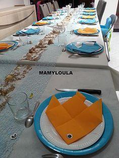 """recette Déco de table d'anniversaire thème """"signe du poisson"""""""