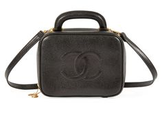 Chanel, 1996-97 A BLACK CAVIAR LEATHER VANITY CASE The Suzy Menkes Collection