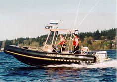Kitsap County Sheriff's Officer - Port Orchard, Washington - Marine Unit Safe Boat http://setcomcorp.com/marine-two-person-intercom.html #marine #headsets #setcom #police