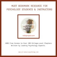 Noba is an open and free online platform that provides high-quality, flexibly structured textbooks and educational materials. Psychology Resources, Psychology Student, Read Later, Don't Give Up, Smart People, Textbook, Ninja, Mental Health, Brain