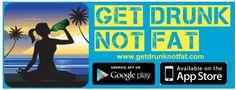 Get Drunk Not Fat Free Sticker - US