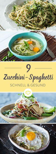 Im Handumdrehen zum gesunden Low-Carb-Pasta-Glück – die hübschen Zucchinispiralen überzeugen auf ganzer Länge und sind ratzfatz zubereitet.