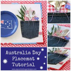 How to Make a Patriotic Placemat-Australian Style {Sewing Tutorial} | A Spoonful of Sugar