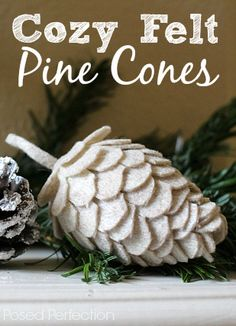 These Cozy Felt Pine Cones are a cinch to make and so fun too! You just need felt, egg shapes and glue. Easy Peasy!