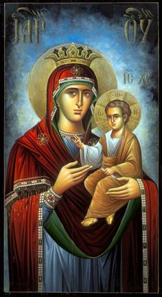 Orthodox Icons written by the hand of Eleni Dadi (Ελένη Ντάση) Religious Images, Religious Icons, Religious Art, Byzantine Icons, Byzantine Art, Madonna, Blessed Mother Mary, Orthodox Christianity, Catholic Art
