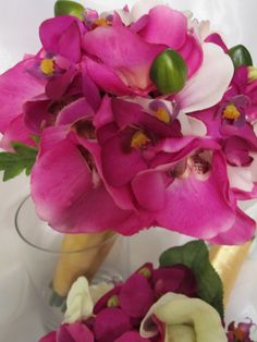 phalaenopsis orchid bouquet; design by Davis Floral Creations