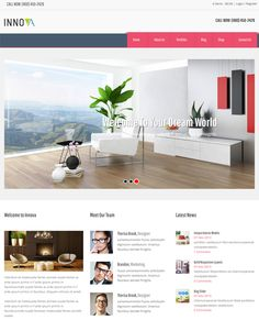 This interior design and furniture WordPress theme offers WooCommerce and WPML support, a responsive layout, multiple portfolio page templates, demo content, Google Fonts, a contact page template, and more.